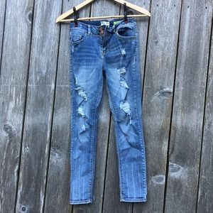 Indigo Rein stretch skinny jeans distressed 12